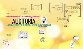 Copy of Auditoría Administrativa Operacional y Financiera - Procedimientos y elementos comunes