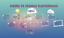 DISEÑO DE PÁGINAS ELECTRÓNICAS
