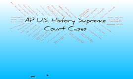 AP History Court Cases