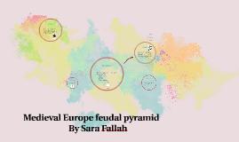 Medieval Europe feudal pyramid