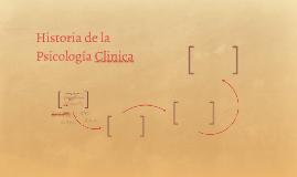 Historia de la Psicología Clinica