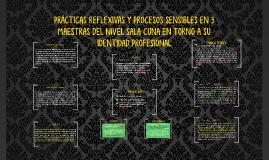 PRÁCTICAS REFLEXIVAS Y PROCESOS SENSIBLES EN 3 MAESTRAS
