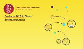 Business Pitch in Social Entrepreneurship