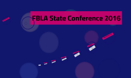 FBLA State Conference 2016