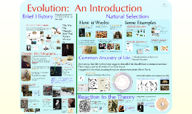 Evolution 1:  Introduction to Evolution