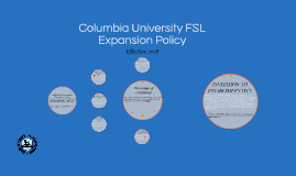Columbia University Expansion Policy