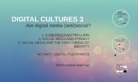 DIGITAL CULTURES 3: SOCIAL