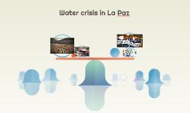 Water crisis La Paz