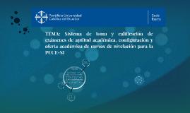 TEMA: Sistema de toma y calificación de exámenes de aptitud