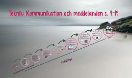 Teknik: Kommunikation och meddelanden