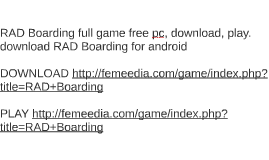 RAD Boarding full game free pc, download, play. download RAD