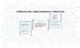 Copy of Copy of Calidad de vida, calidad ambiental y calidad total.
