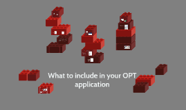 What to include in your OPT application