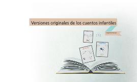 Versiones originales de los cuentos infantiles
