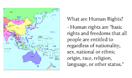 Human Rights in The Asia- Pacific
