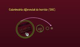 Calorimetría diferencial de barrido (DSC)