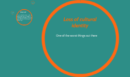 Loss of cultural identity