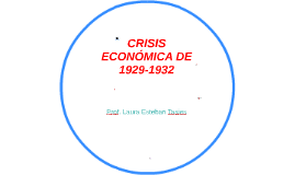 CRISIS ECONÓMICA DE 1929-1932