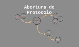 DONORS - Abertura de protocolo