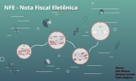 NFE - Nota Fiscal Eletônica