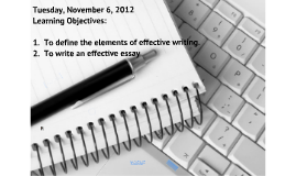 Writing Elements