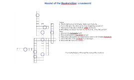 Hound of the Baskervilles: crossword