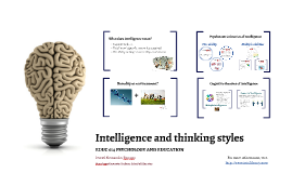 Intelligence and thinking styles