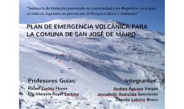 PLAN DE EMERGENCIA VOLCANICO PARA LA COMUNA DE SAN JOSÉ DE MAIPO