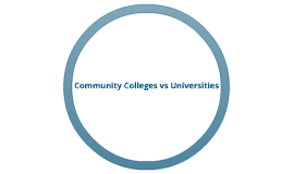 Community Colleges vs. Universties