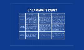 07.03 Minority Rights