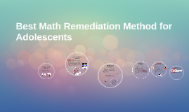 Best Math Remediation Method for Adolescents