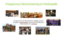 Programma Dienstverlening en participatie