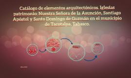 Catálogo de elementos arquitectónicos. Iglesias patrimonio: