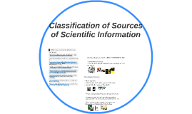 S&T21 Classification of Sources of Scientific Information