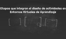 Etapas que integran el diseño de actividades en