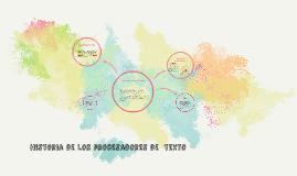 Historia de los procesadores de  texto