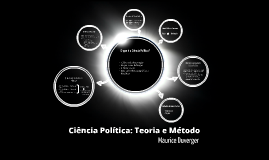Copy of Ciência Política: Teoria e Método