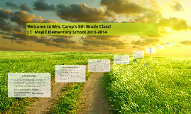 Welcome to Mrs. Camp's 5th Grade Class!