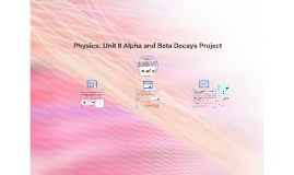 Physics: Unit 8 Alpha and Beta Decays Project