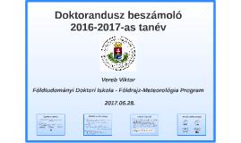 Doktorandusz beszámoló - 2016-2017