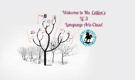 Ms. Callon's ELAR Class