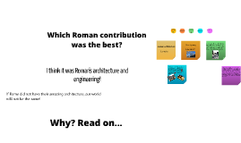 Which Roman contribution was the best?