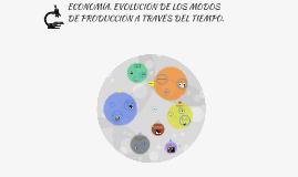 ECONOMÍA. EVOLUCIÓN DE LOS MODOS DE PRODUCCIÓN A TRAVÉS DEL