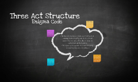Three Act Structure & Enigma Code