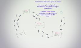 Herramientas Web como apoyo en el aula