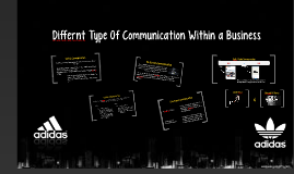 Differnt Type Of Communication Within a Buiness