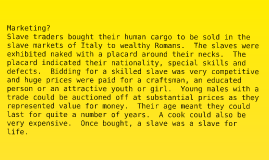 Roman Slavery & Spartacus Presentation