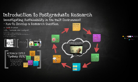 2016_Autumn_Introduction to Postgraduate Research in SUD