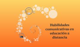 Habilidades comunicativas en educación a distancia