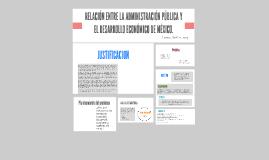 RELACIÓN ENTRE LA ADMINISTRACIÓN PÚBLICA Y EL DESARROLLO ECO